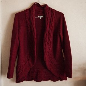 Croft & Barrow Red Chunky Knit Sweater